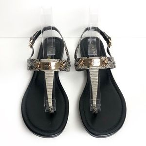 Coach Snakeskin Thong Sandals with Strap Size 9.5